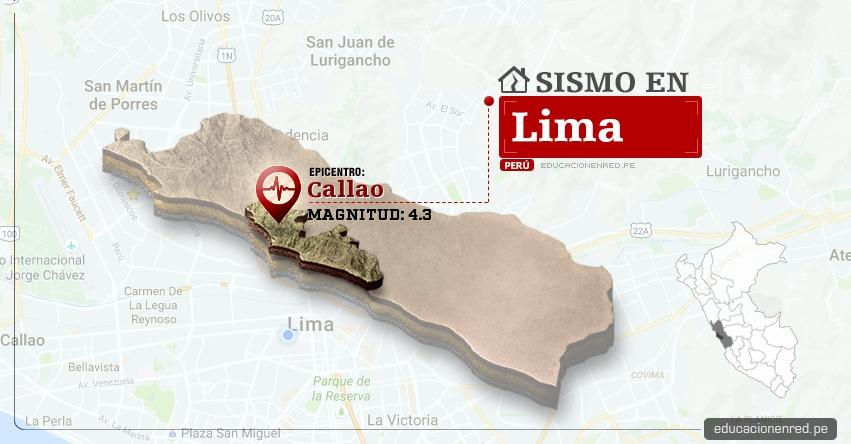 Temblor en Lima de 4.3 Grados (Hoy Sábado 06 Mayo 2017) Sismo EPICENTRO Callao - IGP - www.igp.gob.pe