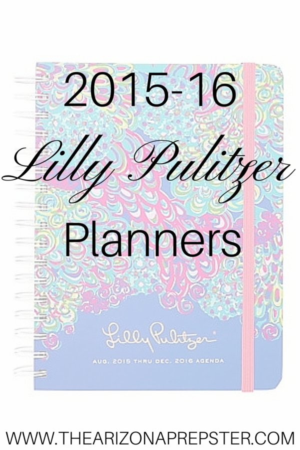 2015-16 Lilly Pulitzer Planners