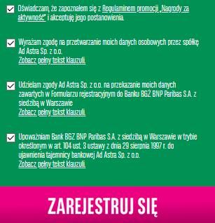 Promocja nagrody dla aktywnych w BGŻ BNP Paribas!