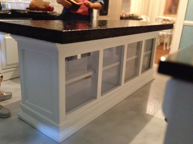 Jocelyn S Mountfield Dollhouse Semi Scratch Build Kitchen Island