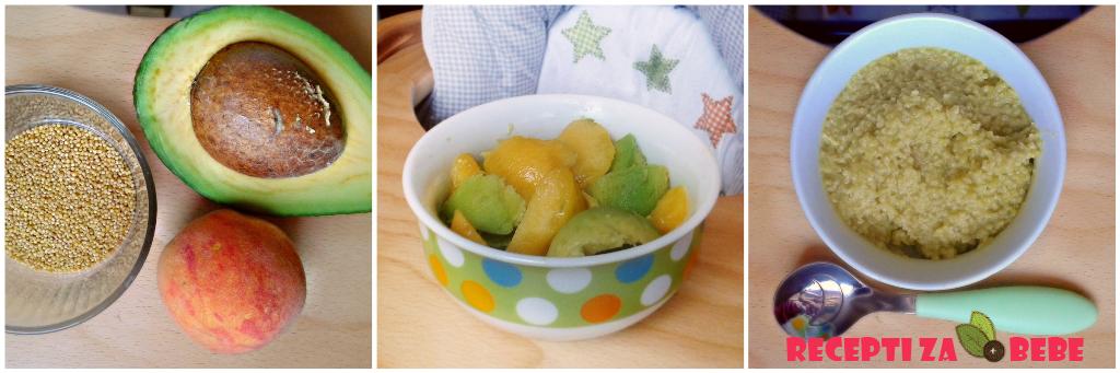 Kruska nektarina i banana za bebe