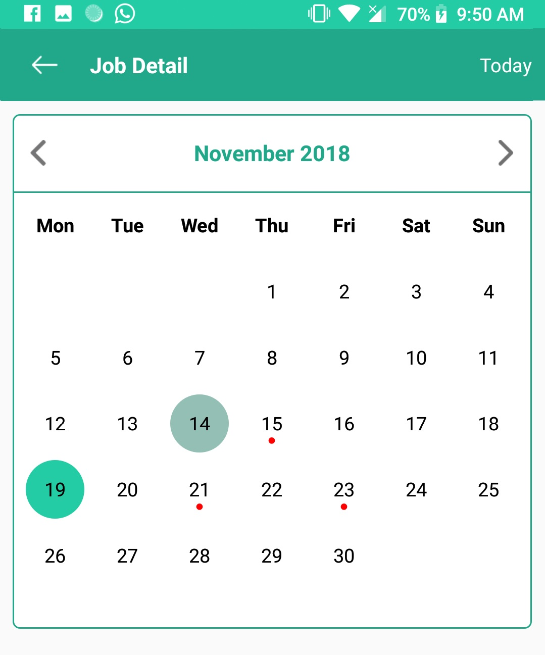 ANDROID LIBRARY (Android Open Source Code) : Custom Calendar With