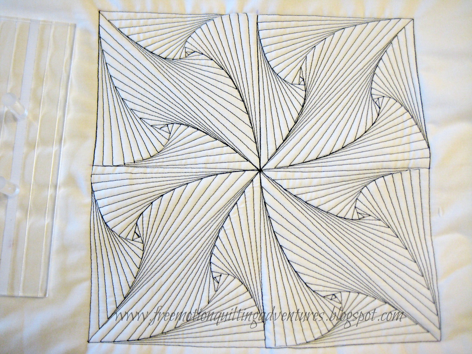 free motion quilting a zentangle