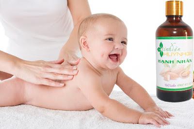 Dầu hạnh nhân massage cho bé mua ở đâu nguyên chất