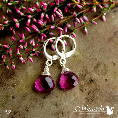 kwarc, quartz drop earrings,miracolo