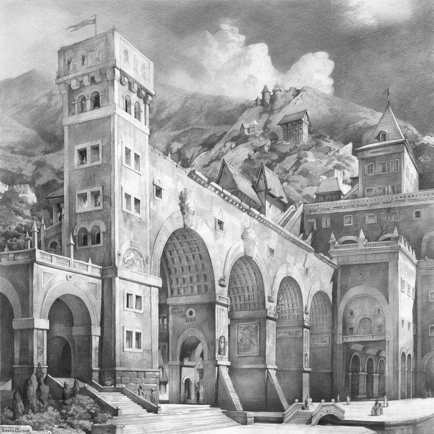 03-Fantasy-Denis-Chernov-Urban-Architecture-Pencil-Drawings-www-designstack-co