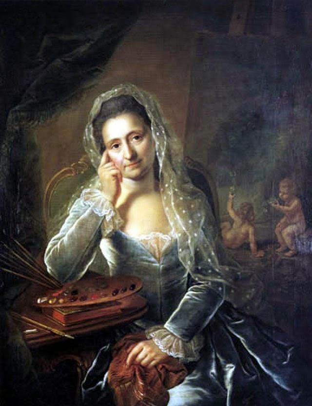 Autoportrait (1767), Anna Rosina de Gasc