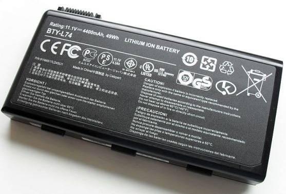 Bateria de íon-lítio para notebooks, o Li-Ion