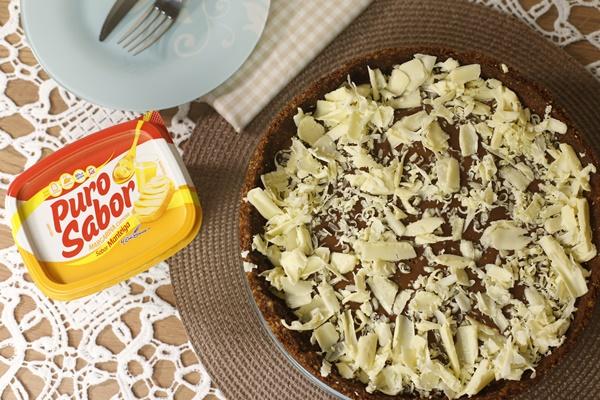Receita Torta de Chocolate Puro Sabor