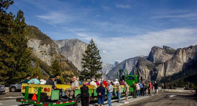 Excursão no Parque Nacional de Yosemite na Califórnia