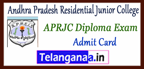 APRJC Andhra Pradesh Residential Junior College 2018 Polytechnic Time Table Admit Card