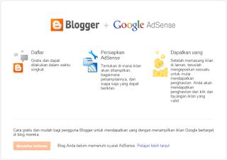 Cara Mudah Mendaftar Blog Ke Adsense