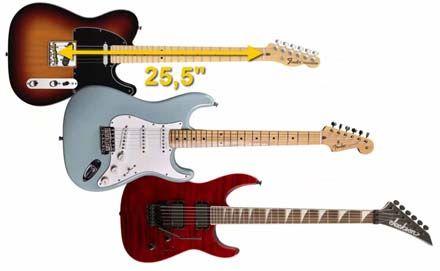 Escala Larga de 25´5 Pulgadas de la Guitarra Eléctrica