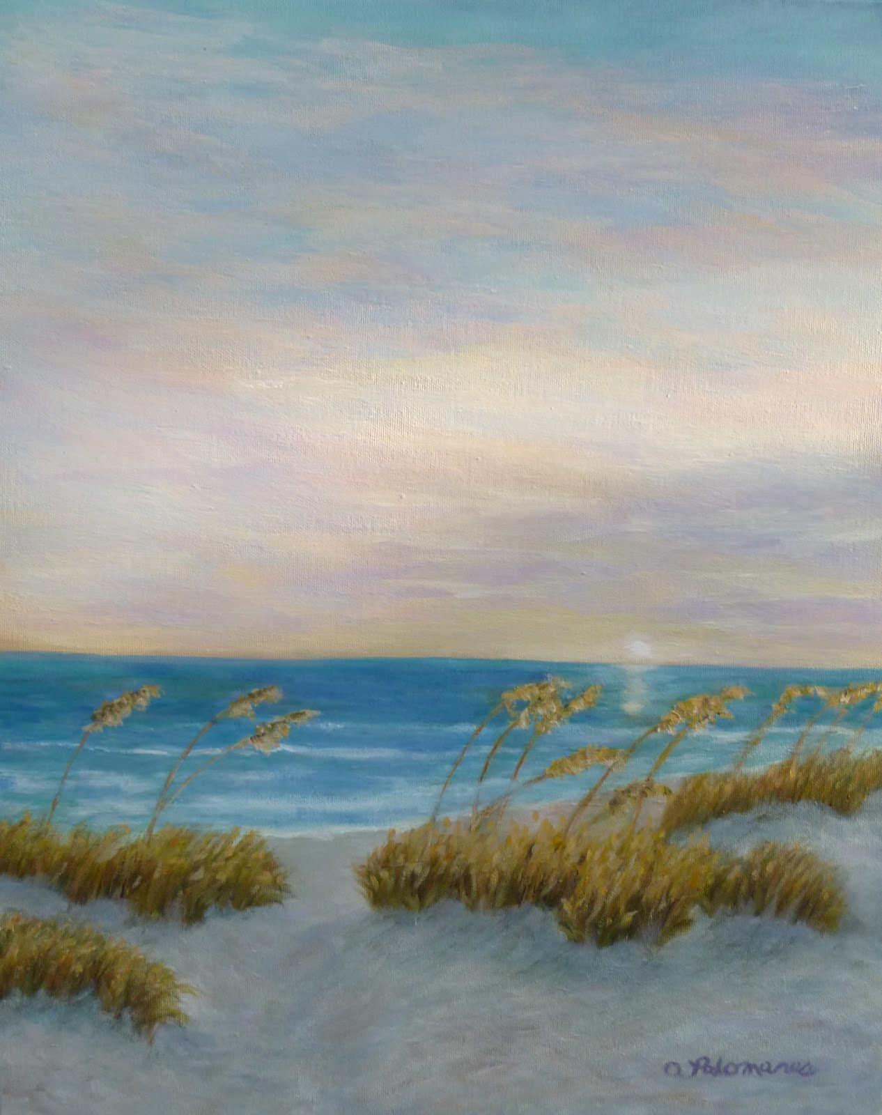 Beach Prints Beach Sunset Painting Amber Palomares Coastal And Nature
