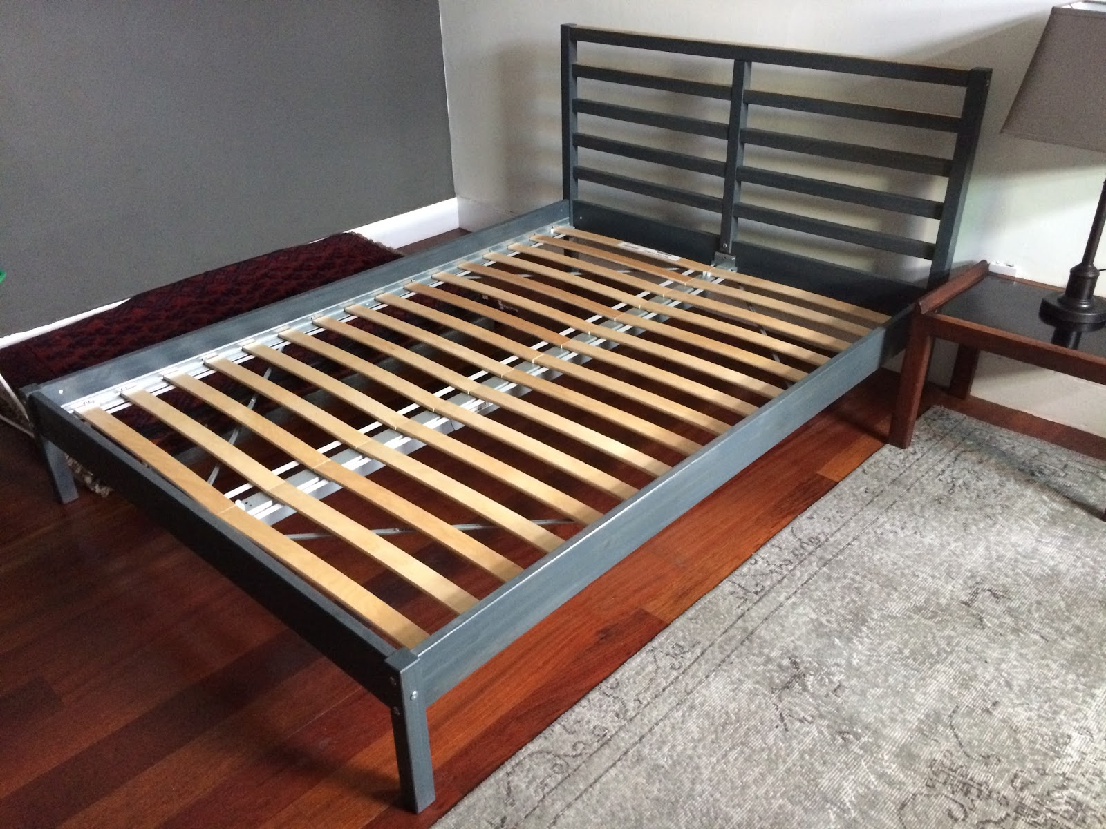 FOR SALE - HOUSING ITEMS: Ikea Tarva pine-wood full-sized bed - gray ...