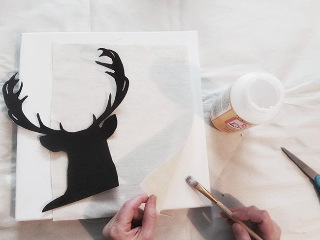 Deer Art | DIY | wall art | tutorial | silhouette | home decor