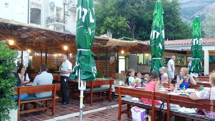 Интерьер ресторана «Sunce», Петровац