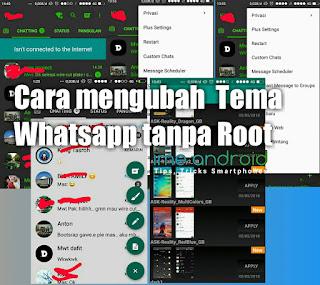 cara mengganti tema whatsapp tanpa aplikasi apapun