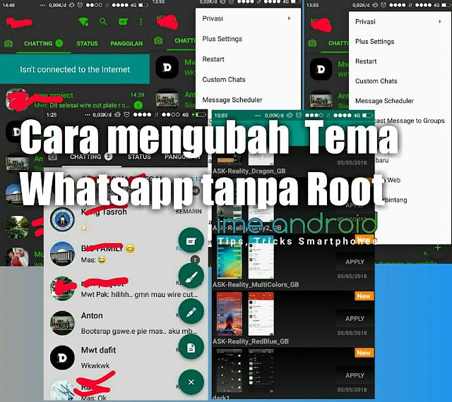 Cara ganti tema whatsapp tanpa root [5Menit]
