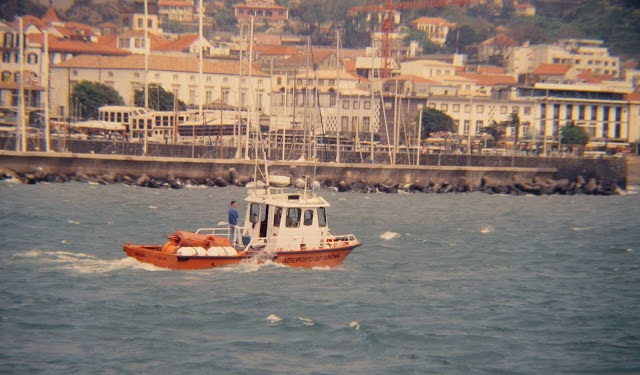 old photo: the boat from Madeira Airport