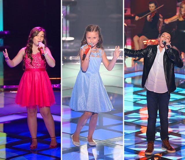 Finalistas The Voice Brasil Kids: Pérola Crepaldi, Rafa Gomes e Wagner Barreto