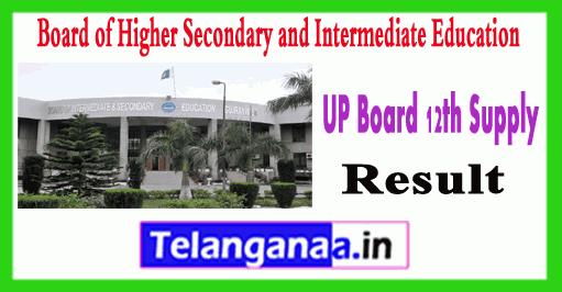 UP Uttar Pradesh Board 12th supplementary Result