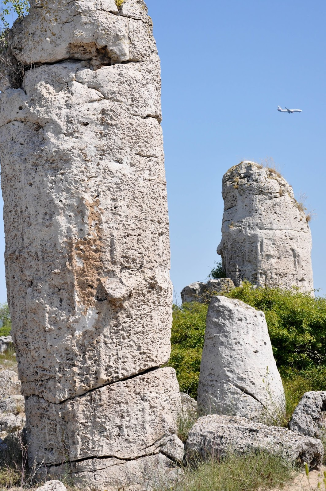 A passing plane, The Stone Forest, Varna, Bulgaria