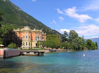 The Grand Hotel Villa Feltrinelli sits on the shore of Lake Garda