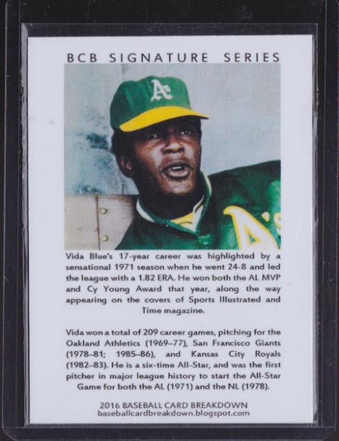Baseball Card Breakdown Custom Ttm Success Vida Blue With Reply