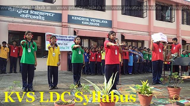 KVS LDC Syllabus 2018 Pdf Exam Pattern, Previous Papers kvsangathan.nic.in