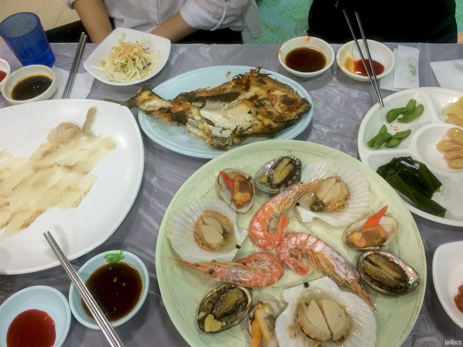 Seoul, Korea - Summer Study Abroad 2014 - Busan Jagalchi Fish Market prepared seafood