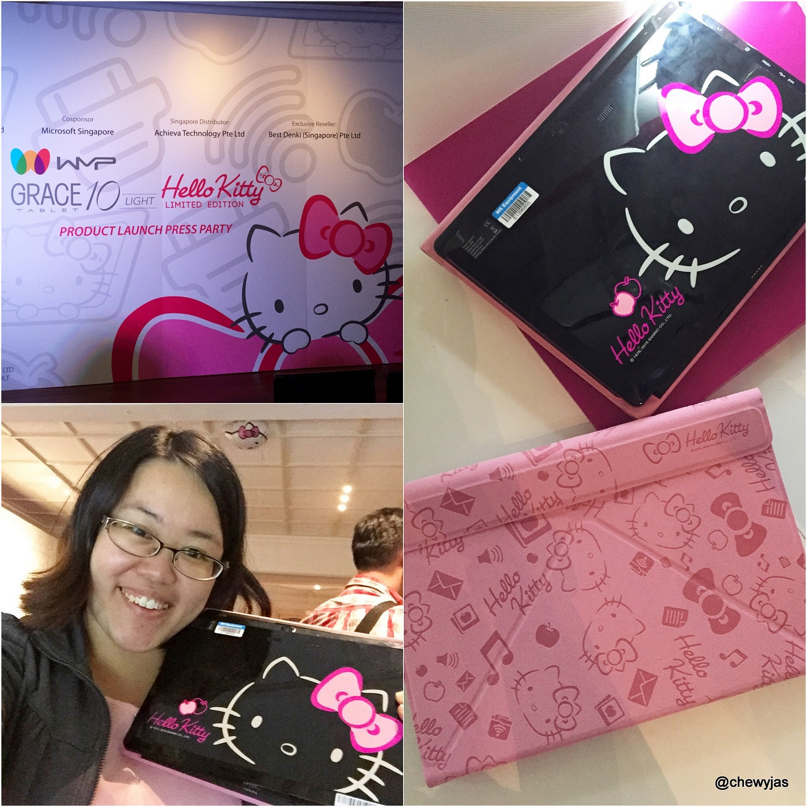 b63ffcecd [LAUNCH PARTY] Grace 10 Light Hello Kitty Limited Edition Windows 10 tablet