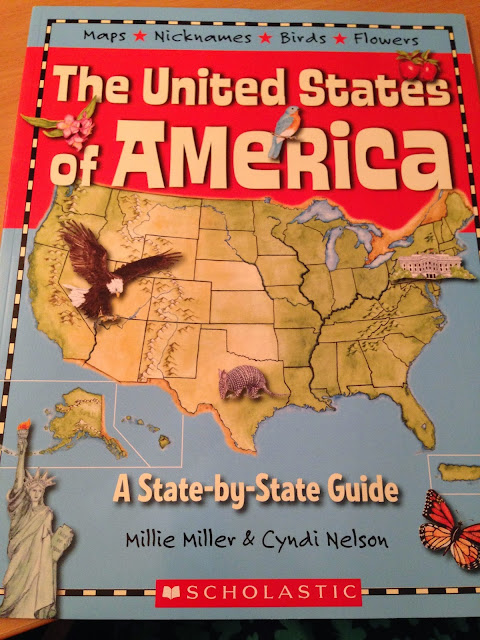http://www.amazon.com/United-States-America-State---State/dp/0439827655/ref=sr_1_1?ie=UTF8&qid=1457236043&sr=8-1&keywords=United+States+of+American+state+by+state+guide+millie+miller