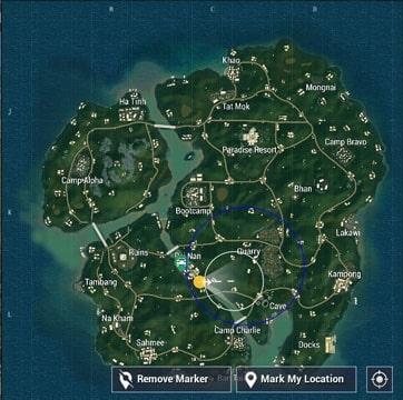 tempat flare gun map sanhok