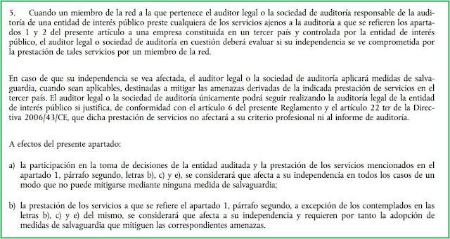 artículo 5.5 del RUE 537/2014