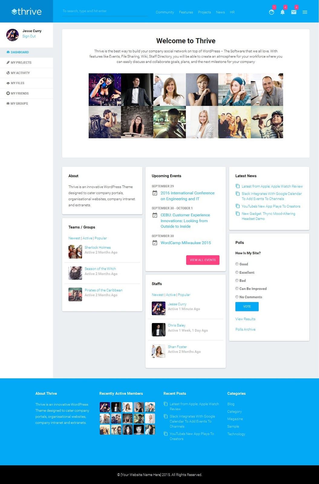 Best Responsive BuddyPress Theme 2015