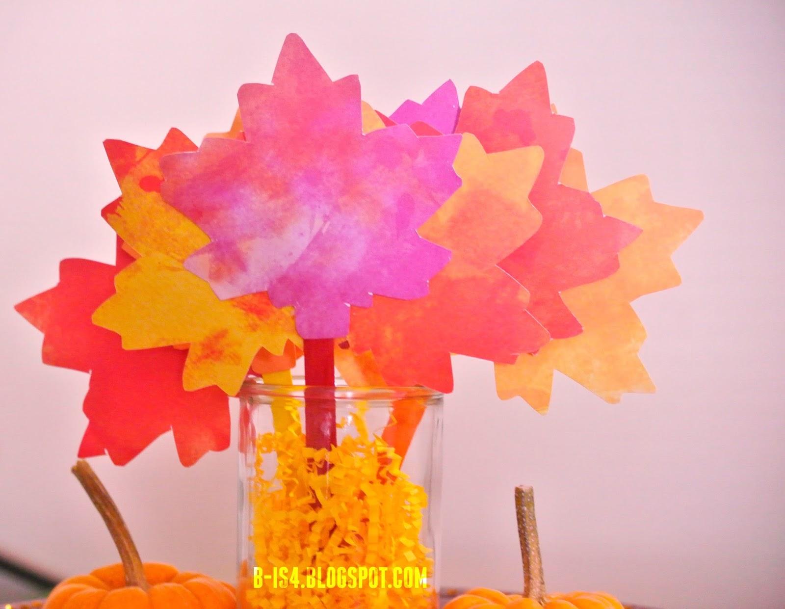 Diy thanksgiving paper decor - Thanksgiving Paper Leaves Centerpiece Diy Crafts Table Decor