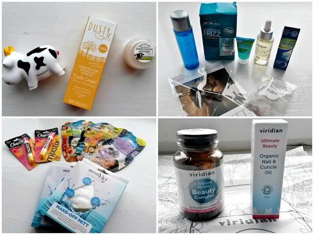 Mixture of beauty and skincare items