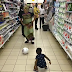 Tonto Dikeh seen playing football with her son at a shopping mall