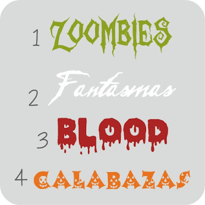 tipografias halloween