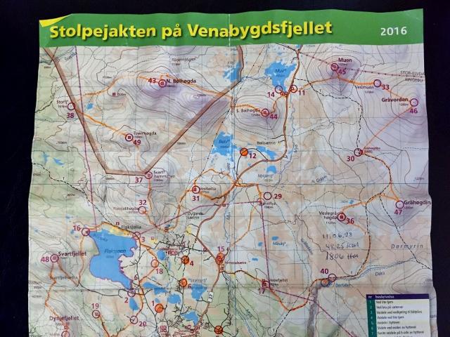 venabygdsfjellet kart OptimistGammeln: Ingen vanlig stolpejakt, men to flotte dager i  venabygdsfjellet kart
