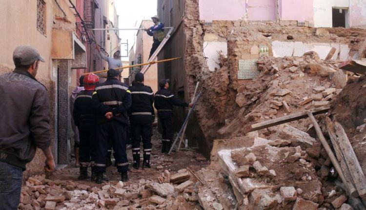 عاجل.. انهيار حائط على رؤوس عمال بالدار البيضاء