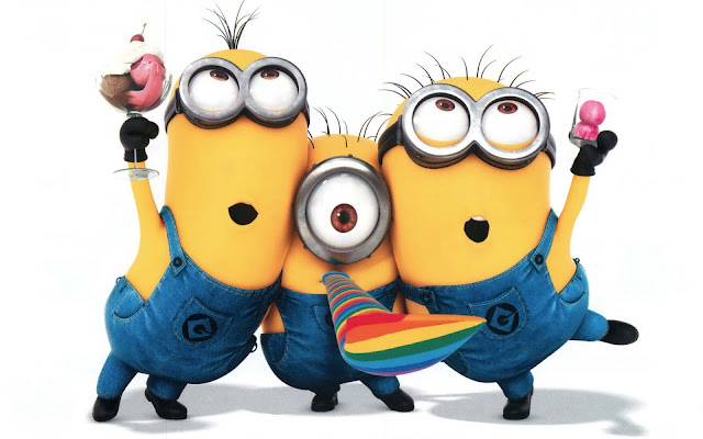 Cute Minions Funny Dance Desktop Wallpapers