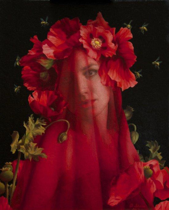 Adrienne Stein arte pinturas tradicionais mulheres renascentismo beleza natureza