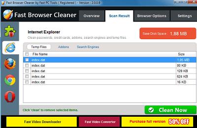 تحميل برنامج تنظيف الكمبيوتر Fast Browser Cleaner مع سيريال التفعيل