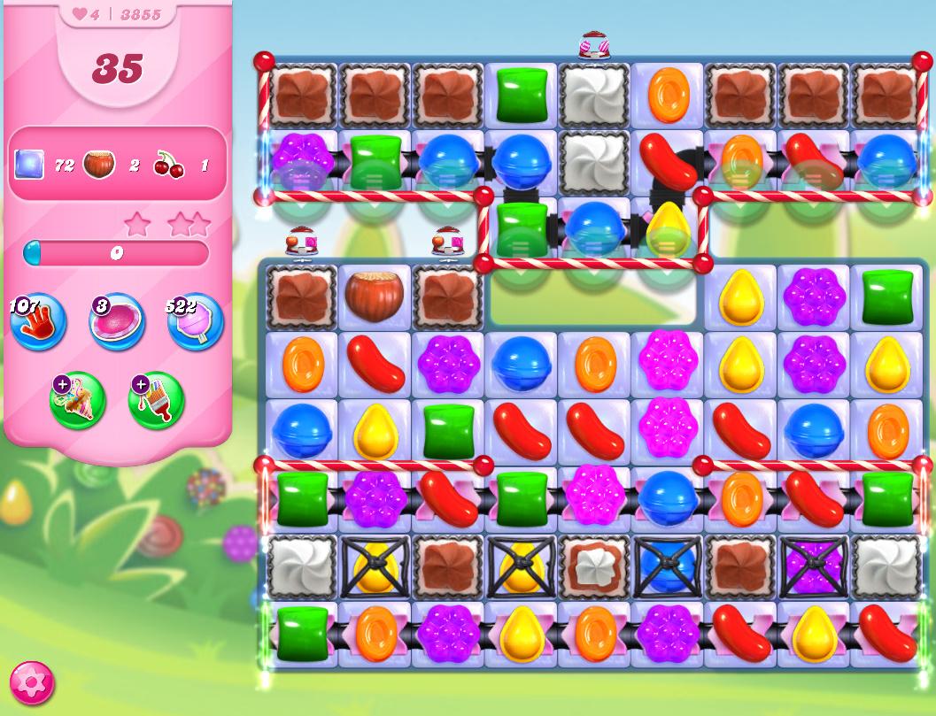 Candy Crush Saga level 3855
