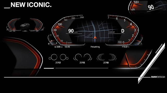 BMW revela novo painel de instrumentos digital