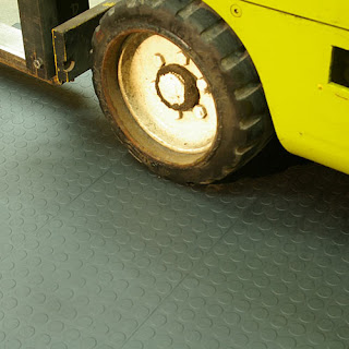 Greatmats hiddenlock coin top plastic tiles forklift warehouse