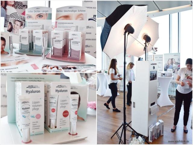 Neue Prodkte von medipharma cosmetics auf dem beautypress Bloggerevent