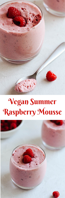 Vegan Summer Raspberry Mousse